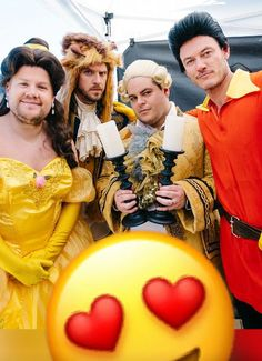 Beauty and the beast cast  with James Corden