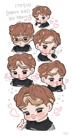 Image shared by Cathy Phan. Find images and videos about exo, kai and exp on We Heart It - the app to get lost in what you love. Exo Kokobop, Exo Kai, Exo Anime, Anime Guys, Exo Cartoon, Exo Stickers, Exo Fan Art, Cute Chibi, Kpop Fanart