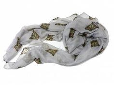 Schals für TierfreundeBaumwoll - Schal: Katze -GRAU-