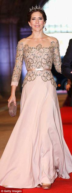 Embellished elegance for Queen Beatrix of The Netherlands' abdication in 2013...