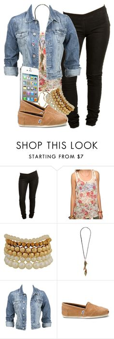 """Birthday Outfit"" by miizz-starburst ❤ liked on Polyvore featuring Tiger of Sweden, Forever 21, Modström, AT&T, TOMS and Aurélie Bidermann"