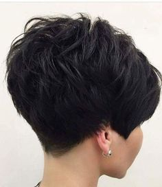 Short hair, undercut, short women's hair, short sexy hairThick-Pixie-Hair Sweet and Sexy Pixie Hairstyles for WomenSweet and Sexy Pixie Hairstyles for Women. Pixie haircut is one of the most popular and beloved hairstyles of recent times. Short Pixie Haircuts, Pixie Hairstyles, Short Hair Cuts, Back Of Short Hair, Short Hair For Women, Beehive Hairstyles, Short Stacked Haircuts, Short Cropped Hair, Pixie Haircut For Thick Hair