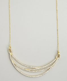 Jardin : gold and CZ crescent necklace : style # 325597401 could do a casual version with beads!