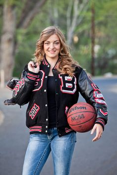 Pin by black leather jacket on womens varsity jackets senior Letterman Jacket Pictures, Letterman Jacket Outfit, Varsity Letterman Jackets, Track Senior Pictures, Basketball Senior Pictures, Senior Photos, Volleyball Pics, Senior Softball, Graduation Pictures