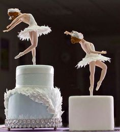 Ballet Soirée - ballerina topped cakes, photo only. (Inspiration)