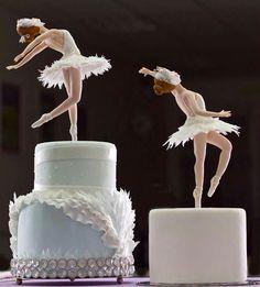 Ballet Soirée - ballerina topped cakes, photo only. (Inspiration)