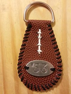 Score A Touchdown!    New personalized football keychains! Personalize with your favorite team, name or number!    Show your support! Great