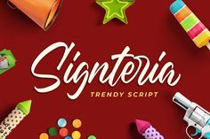 Buy Signteria Trendy Script Font by Blankids on GraphicRiver. Introducing of our new product the name is Signteria Trendy Script Font. Signteria inspired by Brush calligraphy this. Best Script Fonts, Handwritten Fonts, Typography Fonts, All Fonts, Hand Lettering, Wedding Cards, Wedding Invitations, Cute Fonts, Uppercase And Lowercase