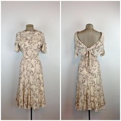 Bias Cut Silk Paisley 30s Style Dress /  Cowl by MotherOfVintage, $88.00