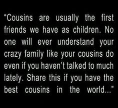 Cousins As kids there were 9 of us...goodtimes