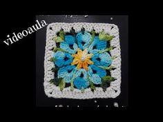 Crochet Mittens Free Pattern, Crochet Edging Patterns, Crochet Headband Pattern, Crochet Squares, Crochet Granny, Crochet Motif, Crochet Flowers, Crochet Baby, Granny Square Poncho