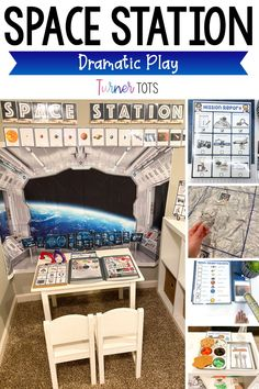 Hands On Activities, Literacy Activities, Learning Through Play, Fun Learning, Space Theme Preschool, Everything Preschool, Space Lab, Role Play Areas, Dramatic Play Centers