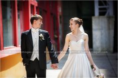 Urban wedding photos in Michigan. Photography by Arising Images. #wedding #bride #groom #urban #downtown #photography #unique