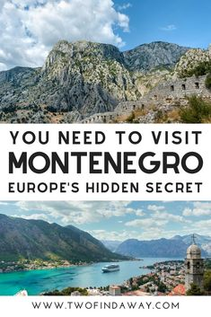 Montenegro is one of the most beautiful destinations in Europe. In this post, we include 33 photos of Montenegro that will make you want to book a trip to this stunning Balkan country! Voyage Europe, Europe Travel Guide, Travel Guides, Travel Hacks, Travel Essentials, Traveling Europe, Backpacking Europe, Budget Travel, Destination Voyage