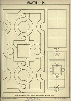 see site for many more - 1895 - Cusack's freehand ornament. A text book with chapters on elements, principles, and methods of freehand drawing, for the general use of teachers and students . by Armstrong, Charles Geometric Art, Geometric Designs, Tattoo Painting, Ornament Drawing, Leather Carving, Ceiling Design, Celtic Knot, Islamic Art, Sacred Geometry