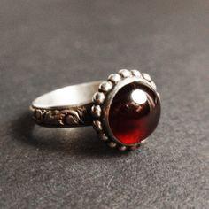 """Кольцо """"La vin chaude"""". Гранат, серебро, кольцо с гранатом, гранат натуральный"""