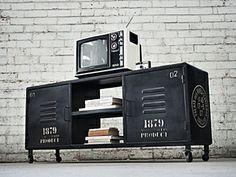 Nostalgia - Industrial Entertainment Unit - TV Stand - Locker Furniture