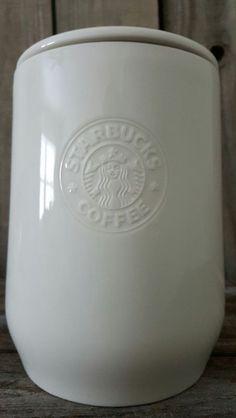 Starbucks 2009 Siren Logo 1lb White Coffee Canister New Bone China