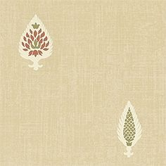 Thibaut is the nation's oldest designer wallpaper firm. Indian Embroidery Designs, Tamarind, Block Prints, Leaves, Beige, Wallpaper, Detail, Fabric, Pattern