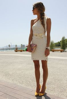 Gorgeous lace dress! dresslux Dress, Zara Heels, Aldo Clutch
