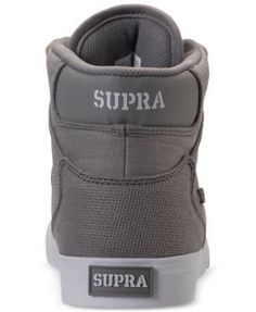 c2400fe1fa SUPRA Men s Vaider Casual Skate High Top Sneakers from Finish Line    Reviews - Finish Line Athletic Shoes - Men - Macy s