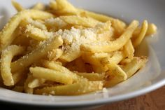 Parmesan Truffle Fries! Crunchy Fries tossed in truffle oil and grated Parmesan. An elegant take on an old standard.