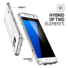 【Spigen】 Galaxy S7 Edge ケース, ウルトラ・ハイブリッド [ 米軍MIL規格取得 背面 クリア ] ギャラクシー S7 エッジ 用 カバー (Galaxy S7 Edge, クリスタル・クリア):Amazon.co.jp:パソコン/AV/カメラ/家電