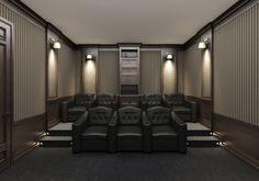 Home Theater Room Design, Movie Theater Rooms, Home Cinema Room, Best Home Theater, Home Theater Lighting, Theater Seats, Cinema Seats, Movie Rooms, Tv Rooms