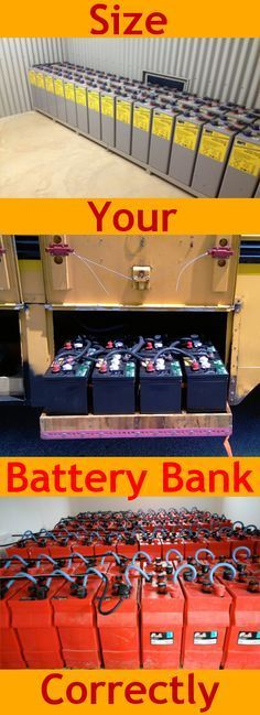 A comprehensive guide to the basics of off-grid power battery bank sizing. This is important because a too big or too small battery bank will have consequences. (batteries have their own decorated cupboard and are in a special small barn) Renewable Energy, Solar Energy, Solaire Diy, Alternative Energie, Off Grid System, Solar Projects, Energy Projects, Solar Power System, Off Grid Solar Power