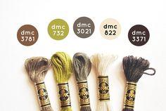 DMC threads- wind in the willows Dmc Embroidery Floss, Diy Embroidery, Cross Stitch Embroidery, Cross Stitch Floss, Cross Stitch Patterns, Friendship Bracelet Patterns, Friendship Bracelets, Wild Olive, Yarn Thread