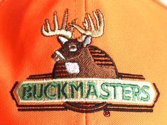 Buckmasters Hunting Hat Cap Blaze Orange Wisconsin Deer Embroidered #Buckmaster
