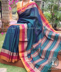 Dress Suits, Dresses, Lehenga Saree, Designer Sarees, Cotton Saree, Plaid Scarf, How To Wear, Collection, Fashion