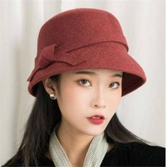 https://www.buyhathats.com/bow-wool-bucket-hat-women-fashion-winter-trilby-felt-hats.html