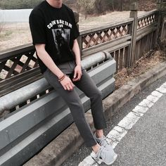 Pants + Tee + Sneakers