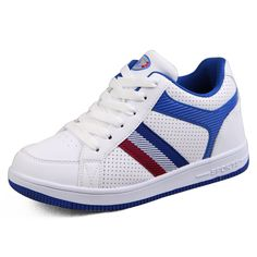 White&Blue  height increase shoes for men 6.5cm / 2.56inch with the SKU:MENGOG_1389 - 2014 height increasing skateboard shoes add tall 6.5cm / 2.56inches white/blue casual sports shoes
