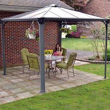 Outdoor Aluminium Gazebo 3 x 3 m Large Garden Patio Roof Canopy Awning Shade New