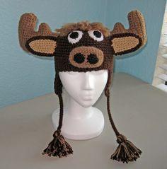 moose antlers crochet - Google Search