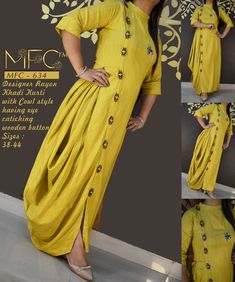 Kurti Sleeves Design, Kurta Neck Design, Sleeves Designs For Dresses, Dress Neck Designs, Blouse Designs, Stylish Dress Designs, Stylish Dresses, Kurti Embroidery Design, Frock Fashion