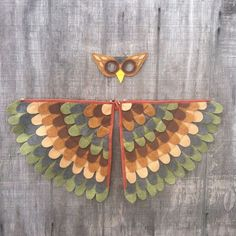 Items similar to Owl Costume // Wings and Mask // Olive and Brown // Owl Gift // Bird Gift //Soft flappable wings, amazing in flight! on Etsy Bird Costume, Costume Wings, Owl Costume Kids, Owl Halloween Costumes, Carnival Costumes, Baby Costumes, Night Forest, Fall Halloween, Halloween 2019