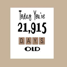 60th Birthday Card The Big 60 Milestone by DaizyBlueDesigns More