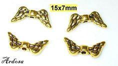 4 Flügel 15mm gold Perlen Engel 105.15 von Schmuckmaterial auf Etsy
