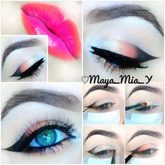 look Pictorial  1.Prime the lids and apply Nyx White Pencil Milk allov...