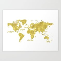Chic gold world map world map print black and gold home decor gold world map treasure by pranatheory gumiabroncs Choice Image