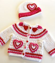 Hearts of Love Sweater PDF 12-093 by Maria Bittner