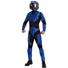 Halo - Blue Spartan Deluxe Adult Costume Will you be the last man standing? You'll look like a man who hold's the planet's future in his hands in the Halo - Blue Spartan D Teen Boy Costumes, Blue Costumes, Movie Costumes, Adult Costumes, Halloween Costumes, Halo Halloween, Halloween Fancy Dress, Adult Halloween, Halloween 2014
