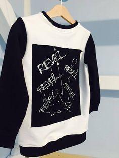 Slovak brand - M-I-N-I-M-A-L Fashion S/S 2019 Kids Fashion, Punk, Black And White, Sweatshirts, Sweaters, Black N White, Black White, Trainers, Sweater