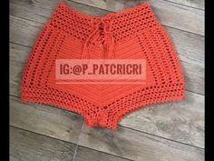 Crochet Chart, Crochet Motif, Diy Crochet, Crochet Stitches, Crochet Top, Crochet Patterns, Crochet Shorts Pattern, Crochet Pants, Crochet Clothes