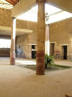 Villa San Marco in Stabiae, Italy also covered in ash by the eruption of Mt Vesuvius in 79 AD
