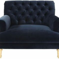 cobble hill prince tufted chair and a half - vance/indigo - ABC Carpet & Home
