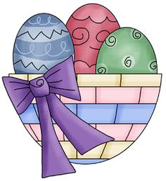 Cestas de ovos da Páscoa para Decoupage | Imagens para Decoupage